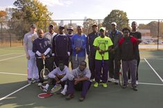Gold and Blue Tennis Play Day - JCSU students and alumni