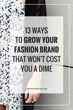 Raise your hand if you want to grow your business but don't have the money to spend hundreds of dollars doing it. Today we're sharing 13 simple ways to grow your fashion business and the best part, they won't cost you a DIME! Link is in the profile. Head on over to the blog and start growing! #GetItGirl