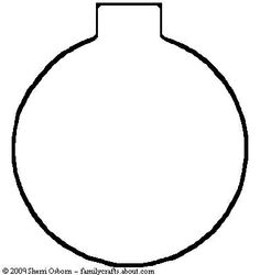 free felt ornament patterns   Printable Red Ball Ornament Pattern or Coloring Page