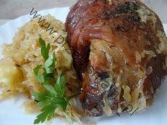 Bigos z pieczarek Polish Recipes, Polish Food, Baked Potato, Pork, Turkey, Potatoes, Chicken, Meat, Baking