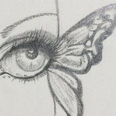 butterfly eye sketch