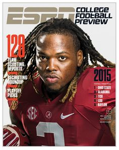 Derrick Henry on ESPN College Football Preview 2015 Cover Alabama Roll Tide