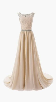 Beaded Straps Bridesmaid Dress