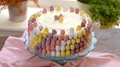 Watch Martha Collison from The Great British Bake Off make this pretty mini egg cake with white chocolate buttercream. Mini Eggs Cake, Egg Cake, Easy Desserts, Dessert Recipes, Chocolate Buttercream Recipe, British Bake Off Recipes, Delicious Cake Recipes, Cake Flavors, No Bake Treats