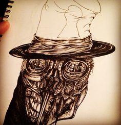 WIP #drawing #halloween #mrincurious