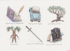 harry potter Illustration watercolor hogwarts pen and ink Fanart Harry Potter, Harry Potter Books, Harry Potter Love, Harry Potter World, Harry Potter Symbols, Illustrations Harry Potter, Harry Potter Drawings, Hogwarts, Imprimibles Harry Potter