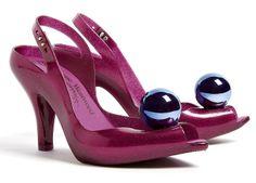 Vivienne Westwood Plastic Purple Glitter Heels   from Domestic Sluttery www.domesticsluttery.com