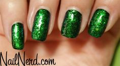 Gorgeous green! 2 coats of Nfu Oh 56 over a base coat of black.