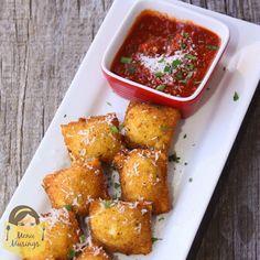 Menu Musings of a Modern American Mom: Meatball Stuffed Fried Ravioli
