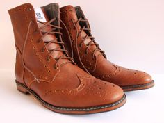 Handmade oxford wingtip boot for men made to order by Andasolo