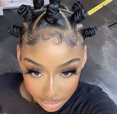 Bantu Knot Hairstyles, Braids Hairstyles Pictures, Black Girl Braided Hairstyles, Girls Natural Hairstyles, Baddie Hairstyles, Girl Hairstyles, Curly Hair Styles, Natural Hair Styles, Natural Hair Braids