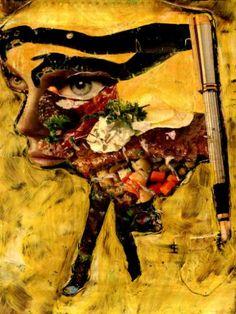 "Saatchi Art Artist CARMEN LUNA; Collage, ""1-Tesoros del COLLAGE."" #art"