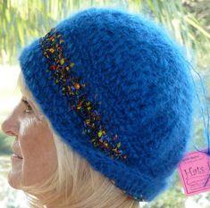 Women Crochet Hat Handcrafted Original Blue by hatsbyanne1942
