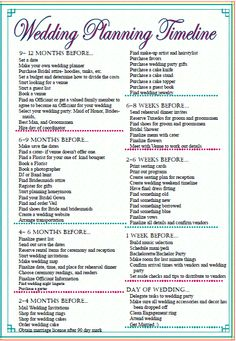Printable Wedding Planning Checklist for DIY Brides | Weddings