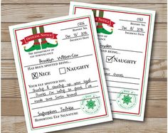 Elf Behavior Report // Elf Naughty or Nice by ClassySassyCreation