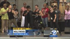 Artem, Henry, Sasha rehearsing with Gladys Knight at Hollywood Bowl 8 Aug 2014 - screencap via abc7 media