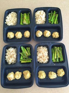 Diary of a Fit Mommy | Weekly Meal Prep: Chicken Meatballs, Asparagus, and Brown Rice | http://diaryofafitmommy.com