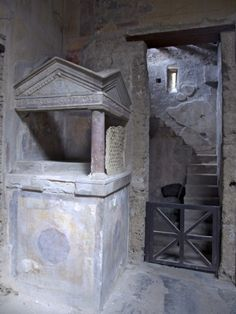 Temple to Domestic Gods in the Entrance Vestibule of House of the Menander, Pompeii