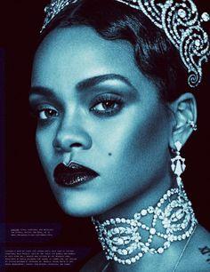 Rihanna sparkles in