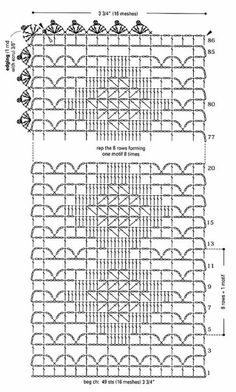 Delicadezas en crochet Gabriela: 25 Patrones de carpetas Crochet Tablecloth Pattern, Crochet Motif Patterns, Crochet Chart, Crochet Doilies, Crochet Lace, Stitch Patterns, Freeform Crochet, Filet Crochet, Yarn Inspiration