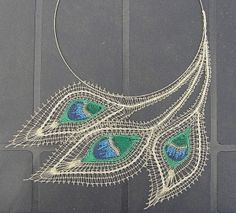 handmade bobbin lace necklace. stunning. by winifred