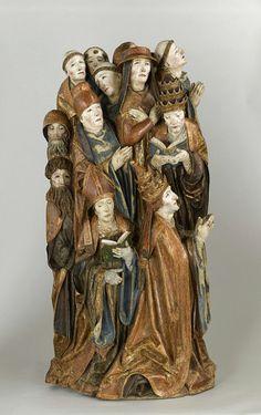 speciesbarocus:  Daniel Mauch (workshop of) - Ten religious at prayer (c. 1505).