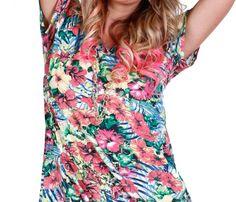 Blusa Feminina. Floral Tops, Women, Fashion, Cute Outfits, Blouse, Moda, Top Flowers, Women's, La Mode