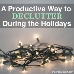 This holiday season, you can help both yourself and others in need. It's all about looking at the decluttering process as a joyful, and giving act. What you don't want, use, or need at home can be the perfect gift for someone who is truly in need. You'll feel great decluttering your house and giving to those who truly need it with these creative projects! |  A Productive Way to Declutter During the Holidays