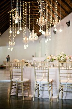 Suspended Hanging Wedding Reception Decor // Moira West Photography