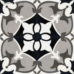 Cement Tile Shop - Encaustic Cement Tile | Sofia Black