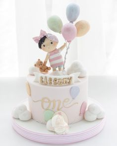 Awesome Picture of Baby Birthday Cake . Baby Birthday Cake First Birthday Cake Sydney Cakes Celebration Cakes Ba Cakes 1st Birthday Cake For Girls, Baby Birthday Cakes, Baby Girl Cakes, First Birthday Cakes, Birthday Ideas, Birthday Parties, Fondant Baby, Fondant Cakes, Bolo Laura
