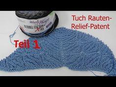 Tuch Rauten-Relief-Patent mit 1 BOBBEL-COTTON von Woolly Hugs
