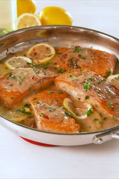 Tender Lemony Salmon Piccata Is Ready in 30 MinDelish