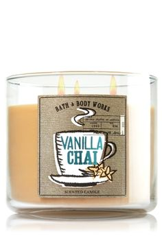 Vanilla Chai 3-Wick Candle - Slatkin & Co. - Bath & Body Works -- UMM... I *need* this candle!!!