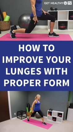 Learn the correct technique of how to a do a lunge and feel the success of a more firm and stronger lower body. Lower Body Muscles, Side Lunges, Leg Workouts, Your Best Friend, Get Healthy, Body Weight, Workout Videos, Buns, Squats