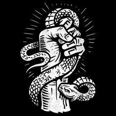 Circle of Trust Edition - Bitten By Failure - Timed Edition T-Shirt & Free Mini Print By Derrick Castle — The AID Network Art And Illustration, Symbole Tattoo, Arte Dope, Graffiti, Silkscreen, Kunst Tattoos, Vegvisir, Graphic Design Inspiration, Traditional Tattoo