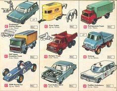 Matchbox Lesney 1969 catalog Page Matchbox regular wheels Studebaker Station Wagon; Custom Hot Wheels, Custom Cars, Retro Toys, 1960s Toys, Vintage Toys, 1970s, Container Truck, Corgi Toys, Baby Boomer