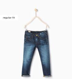 ZARA - KIDS - Topstitched jeans with pocket