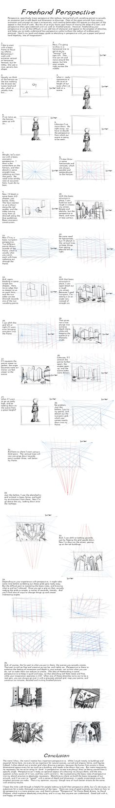 Freehand Perspective Drawing Tutorial by AdamMasterman.deviantart.com on @deviantART