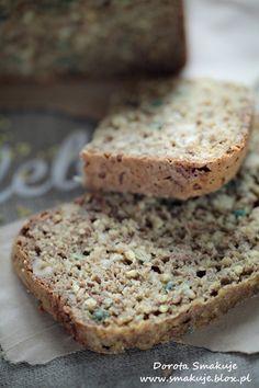 Chleb na sodzie z kasza jaglaną i pestkami dyni Kefir, Banana Bread, Food And Drink, Gluten Free, Breads, Recipes, Glutenfree, Bread Rolls, Sin Gluten