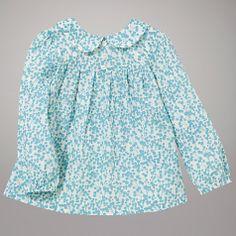 Buy John Lewis Blossom Print Blouse, Turquoise Online at johnlewis.com