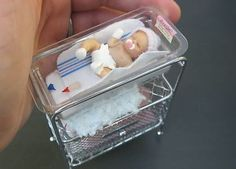 Newborn mini baby in hospital bed. K wants this for her tiny babies