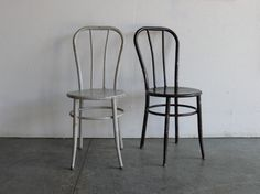 Vintage Industrial Metal Cafe Chairs (Set of 2). $129.00, via Etsy.