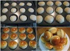 thank you Faten for sharing your bread bun in a cup cake pan Cuisine Diverse, Bread Bun, Snacks Für Party, Bread Baking, Crepes, Love Food, Sweet Tooth, Food Porn, Food And Drink