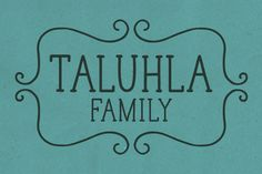 Perfect for personalized stationery, or mix it with a less structured hand-written font.     Taluhla by Cultivated Mind