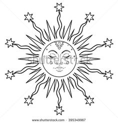 sun face drawing - Google Search
