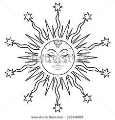 sun face drawing - Google Search