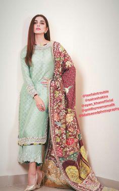 Maya looks stunning Pakistani Couture, Pakistani Dress Design, Pakistani Outfits, Indian Outfits, Latest Pakistani Fashion, India Fashion, Asian Fashion, Eastern Dresses, Indian Party Wear