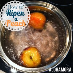 Alohamora: Open a Book: Kitchen Tip: How to Ripen a Peach.   A good peach is absolutely amazing aka one of the best things ever.  These 2 methods will have even the hardest peach delicious and perfect for eating, baking, or cooking. Definitely a diet friendly dessert. :)