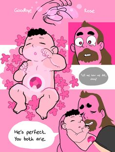 "suikerpil: ""moooonths ago i was thinking about how steve's birth must've been, and how greg got his weird pink tan… """